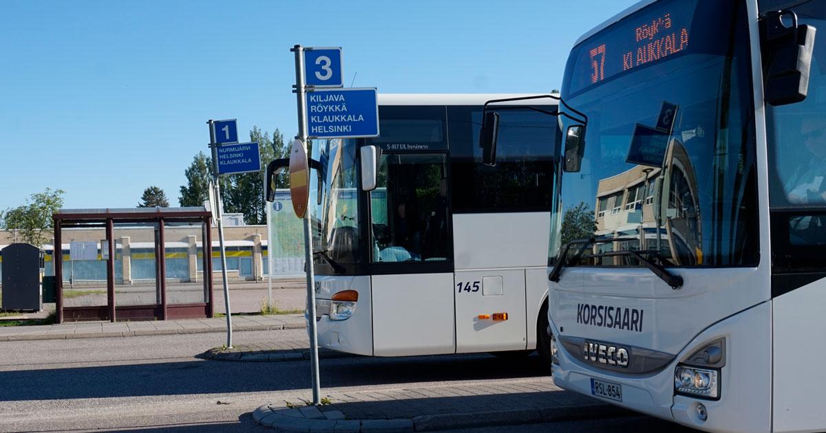 Bussi Klaukkala Helsinki
